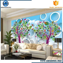 Hot wallpaper 3d hd mural wholesale price new picture 2016 christms home decor