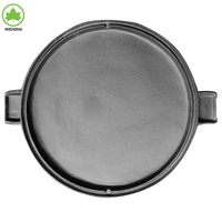 "Oil plant Cast Iron 14"" BBQ round grill pan griddle"