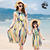 beach dress mother and daughter parent clothing summer dress OEM guangdong factory