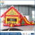 Hot sale cheap inflatable christmas bouncer castle with slide, inflatable christmas bouncy castle for christmas decoration