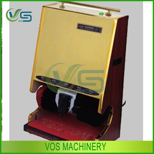 LCD Advertising shoe polishing machine/shoe polisher machine