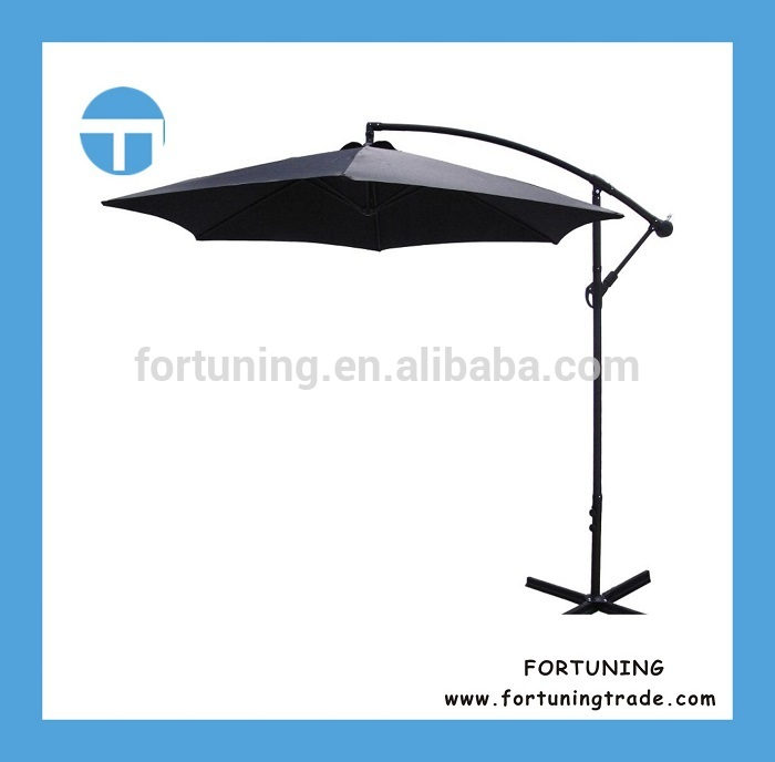Sample accepted aluminum tube polyester fabric hanging waterproof parasol cover with low price