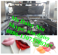 automatic double color lollipop making machine/mixed color lollipop making line