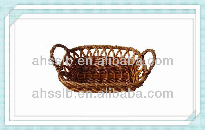 wicker display wicker tray with handle