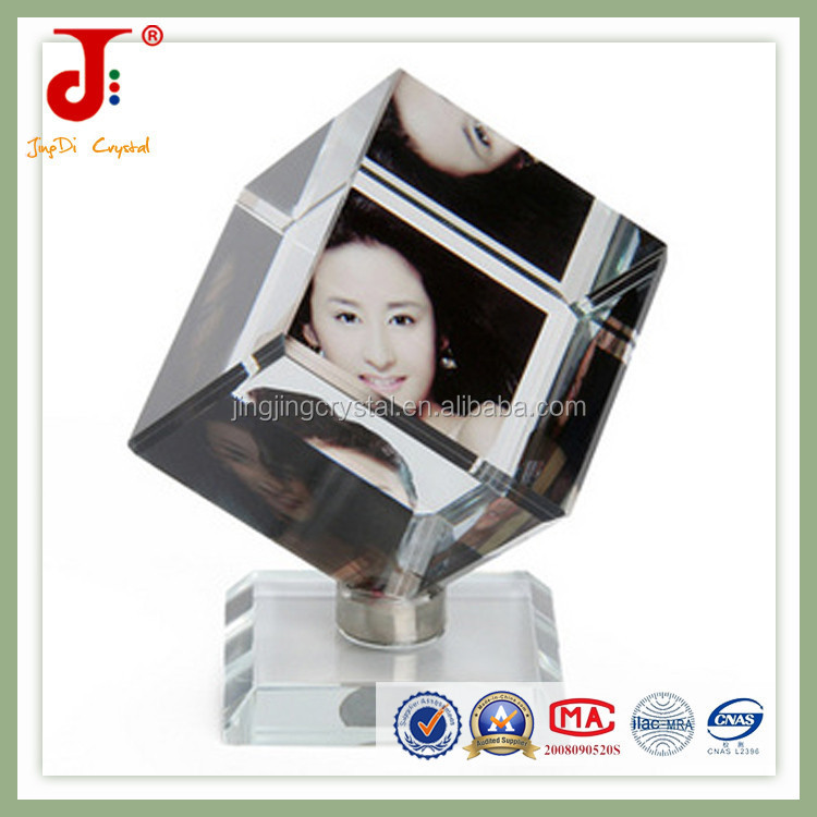 New arrival Wholesale Crystal Rotating Cute funny Unique Photo Frame