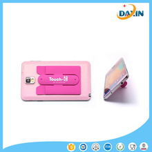 Wholesale customised logo convenient silicone phone /card holder
