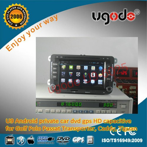 2 din car gps navigator with HD touch screen for VW Golf Passta