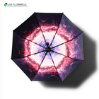 Pongee super two person sky design umbrella 190t