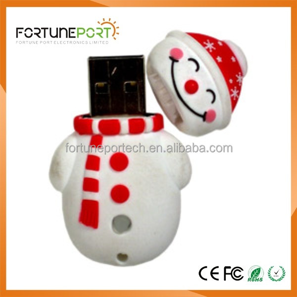 merry christmas snow boy usb flash drives hot selling items 2017 gift usb for sales 128mb 256 mb 512mb