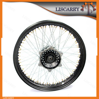 2.5*17 high quality black front wheel with disc brake for motorcycle