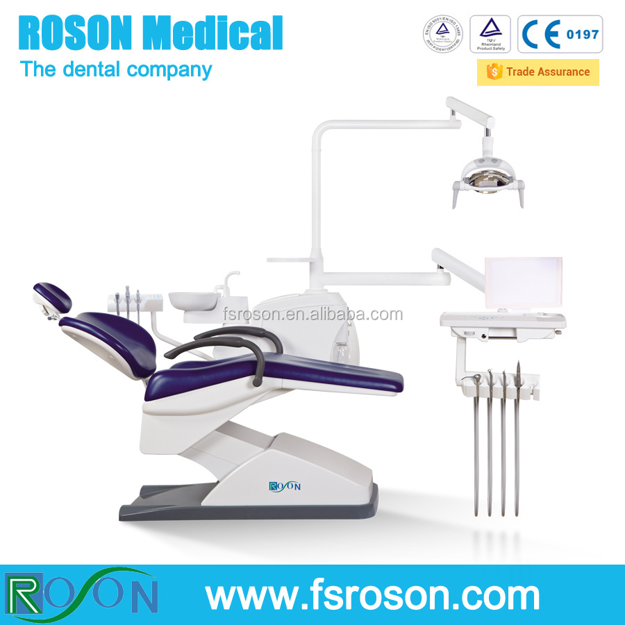 Dark blue dental unit with LED Panoramic x-ray viewer