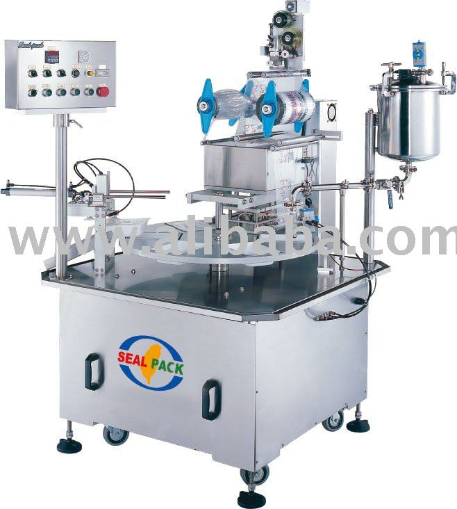 Automatic Rotary Type Tray Filling & Sealing Machine