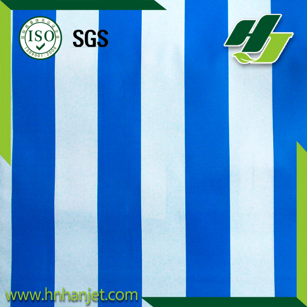 High quality Stripe PVC tarpaulin plastic fabric ,sun shade