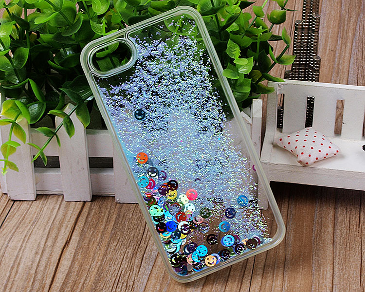New design wholesale laugh face glitter Quicksand hard PC mobile phone case for Apple iphone compatible