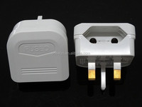 EU to UK Plug Mains Adapter Earthed 5A Fuse BSI Certified BS-5732