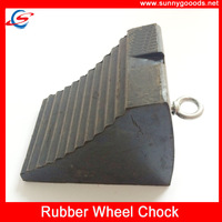 rubber bumper wheel chock for trucks and trailers