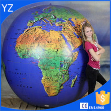 108 inch Inflatable Earth Globe - Topographical - SUPER DUTY!