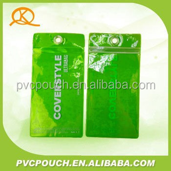 Clear pvc plastic waterproof cell phone pouch