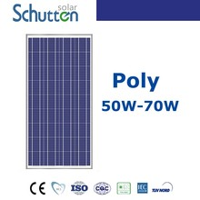 High quality! battery charger small polycrystalline solar module 70w