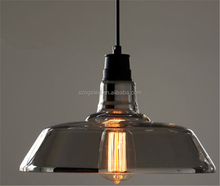clear glass chandelier light/vintage pendant light for edison bulb