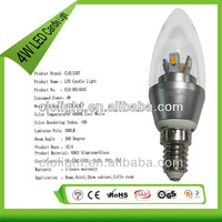 4W E14 led candle light 6000k >300lm new style low energy cost