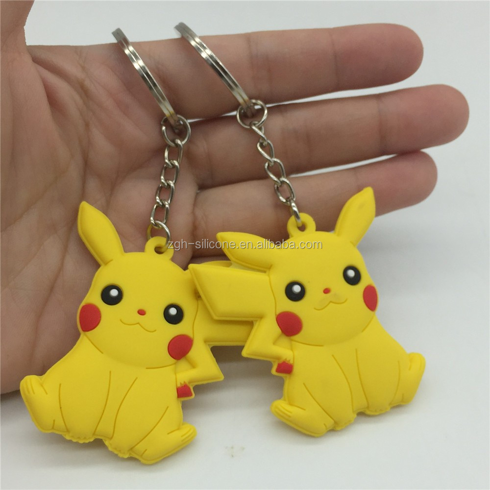 New Style Cute Pokemon Go Silicone Key Ring