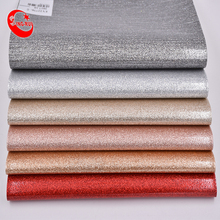 High Quality Glossy Glitter Pu Composite Metalic Leather