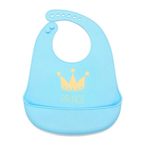 Best Sell OEM STOCK Cheap BPA free waterproof baby soft silicone food bibs