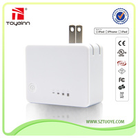 Newest cell phone accessories usb wall power bank 3500mAh with dual usb charger port and foldable plug