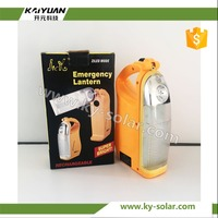 Rechargeable solar led emergency lighting lantern with hand crank