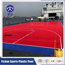 Outdoor Basketball Court PP Interlocking Tile Sport Floor Mat