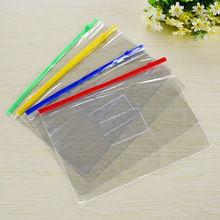 A4 pvc document zipper bag waterproof clear vinyl pvc bags with zipper