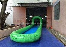 1000 ft/customized slip n slide single lane green inflatable city water slide for sale