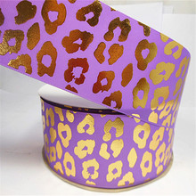 haoxie brand gift grosgrain ribbon wholesale/Leopard printing ribbon/Festival decoration ribbon