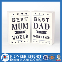 Wooden photo frame for fathers day gifts and mothers day gifts