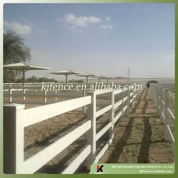 Safe PVC paddock fence-best choice to build horse paddock