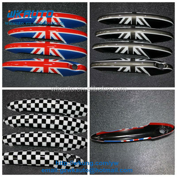 4 pcs for one set high quality New Design Mini Cooper countryman smart car door handle enhanced cover stickers