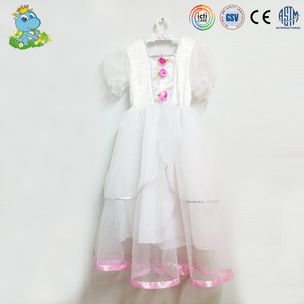 Hot sale girls white wedding dress fairy cosplay costumes