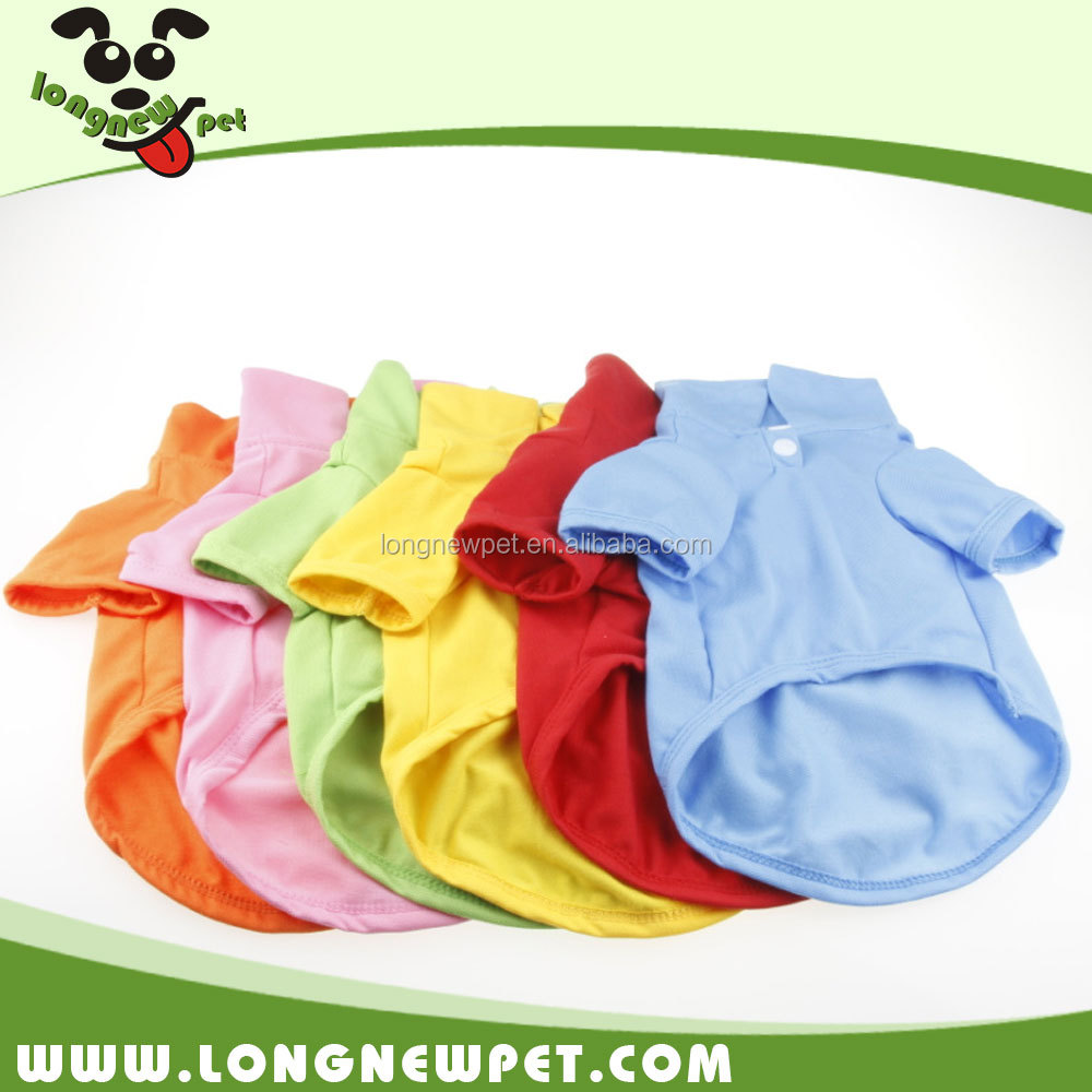 Six Color Puppy Amazon Clothes Plain Blank Summer Dog Polo Shirts