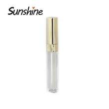 China supplier cosmetic packaging empty cute lip gloss tube container