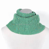 100% Acrylic Knit Decorated Fashion Girls Neck Warmer