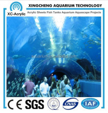 arge customized transparent acrylic aquarium tunnel from China factory