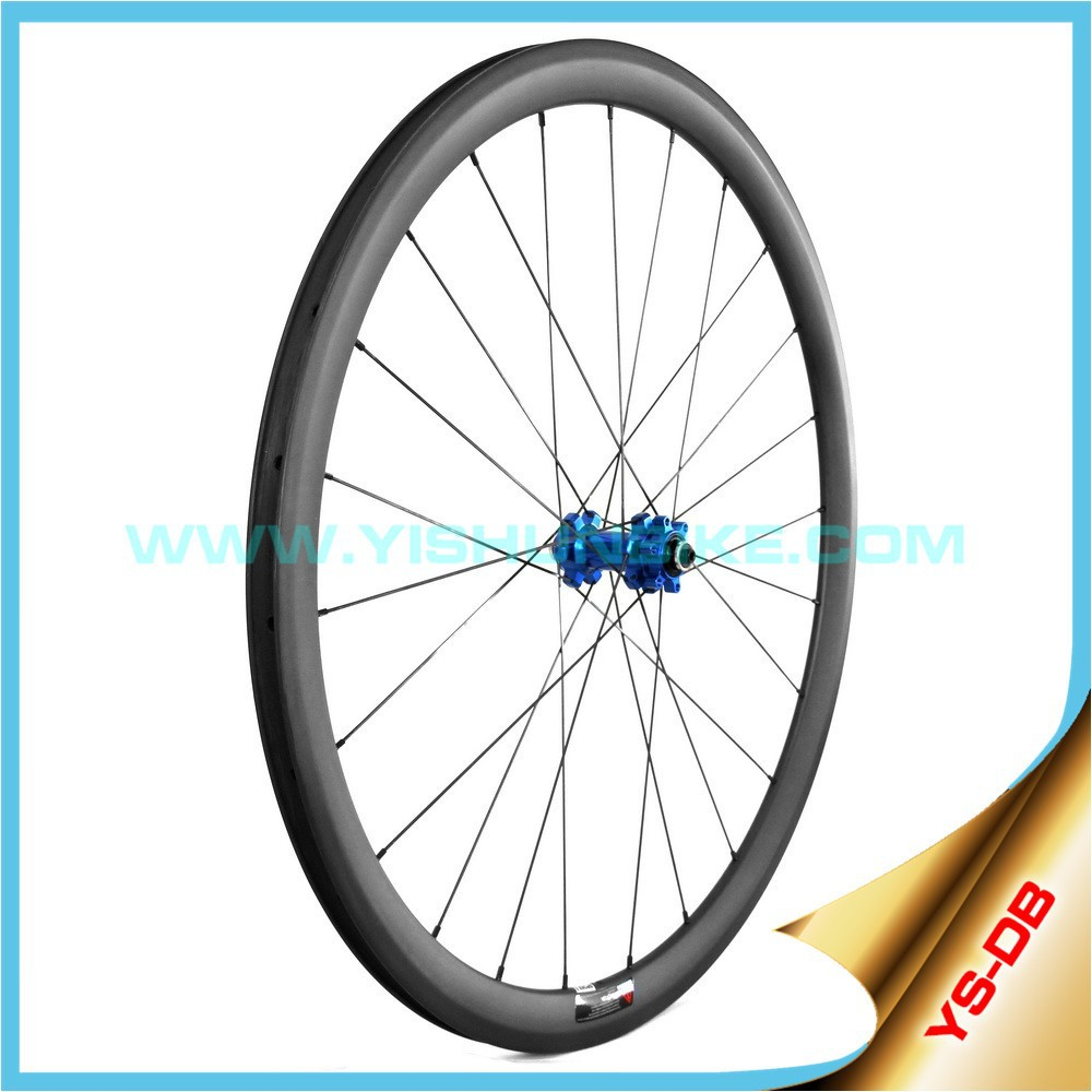 Carbon wheels Disc brake 33mm clincher rim DB330C Made in China Yishunbike