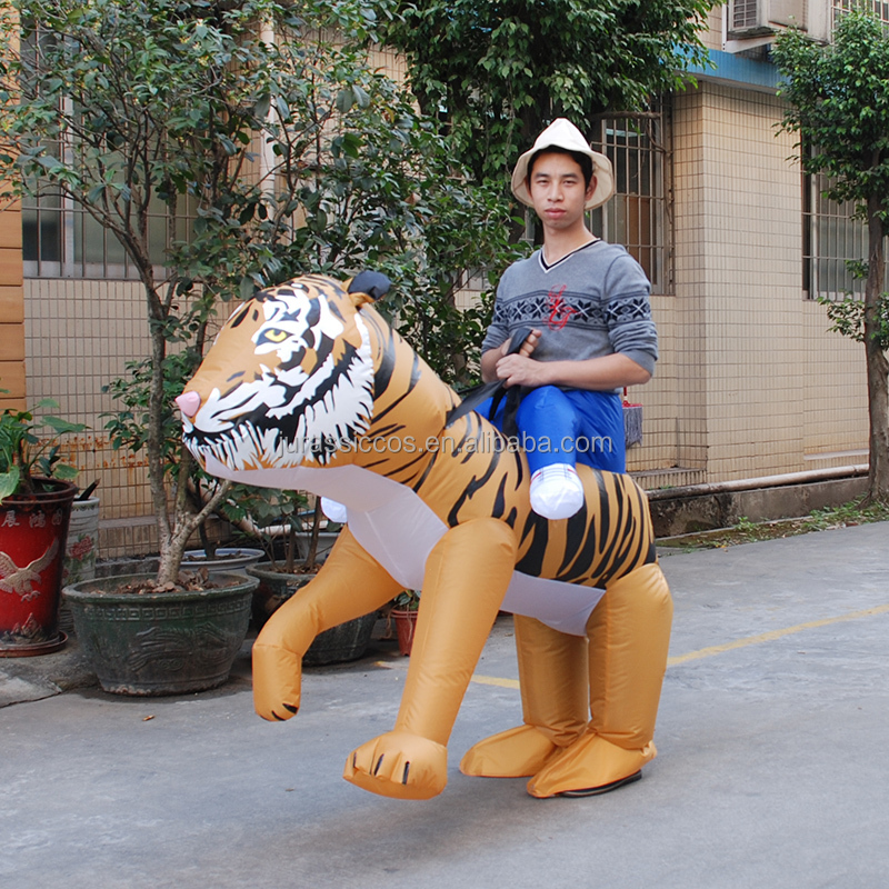 Inflatable Tiger Costume Walking Mascot For Men Adult Animal Cosplay