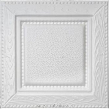 400x400mm High Quanlity and Elegant 3D PU Leather Carved Aluminum Ceiling( DG4545PC006)