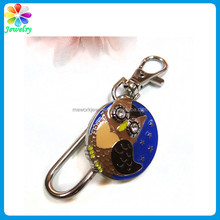 Fashion custom metal keychain globe earth charm keyring custom cut out metal keychain
