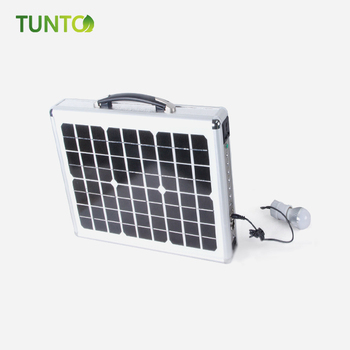 15W Briefcase solar generator charger solar panel charger with battery for camping