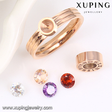 13891 Xuping Stainless Steel Interchangeable Ring New Design Wedding Ring For Women