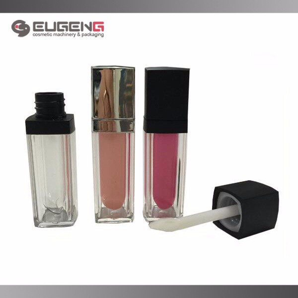 Cosmetic plastic empty lip gloss tube packaging