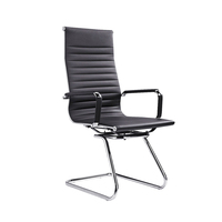 Black leather executive chair office chairs no wheels without wheels